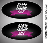 black friday sales tag icon.... | Shutterstock .eps vector #506429362