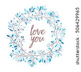 love you card | Shutterstock .eps vector #506429965