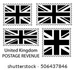 great britain flag postage... | Shutterstock .eps vector #506437846