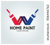 home paint logo design template ...   Shutterstock .eps vector #506446762