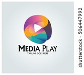 media play logo design template ... | Shutterstock .eps vector #506447992