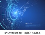 touch the future interface... | Shutterstock .eps vector #506473366