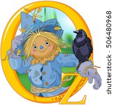 scarecrow and crow. wizard of... | Shutterstock .eps vector #506480968