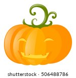 halloween theme with jack o... | Shutterstock .eps vector #506488786