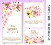 vintage delicate invitation... | Shutterstock . vector #506492692