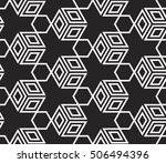 virtual 3d cube. seamless... | Shutterstock .eps vector #506494396