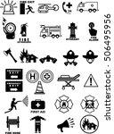 fire department icons  vector | Shutterstock .eps vector #506495956