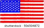 usa flag  american vintage... | Shutterstock .eps vector #506504872