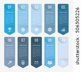 infographic template blue 10... | Shutterstock .eps vector #506505226