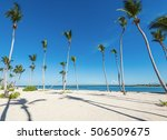 beautiful tropical landscape of ... | Shutterstock . vector #506509675