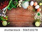 asian food top view spice lemon ... | Shutterstock . vector #506510278