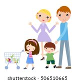 family shopping | Shutterstock .eps vector #506510665