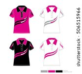 set of vector polo shirt design ... | Shutterstock .eps vector #506515966