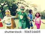 superheroes cheerful kids...   Shutterstock . vector #506516605