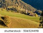 winter alpine landscape in... | Shutterstock . vector #506524498