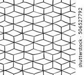vector monochrome seamless... | Shutterstock .eps vector #506527792