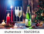 close up view of champagne with ...   Shutterstock . vector #506528416