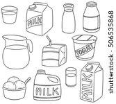 vector set of milk product | Shutterstock .eps vector #506535868