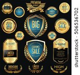 golden sale badges and labels... | Shutterstock .eps vector #506536702