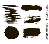 black ink stains | Shutterstock .eps vector #506540158