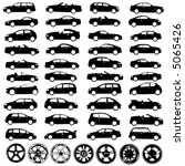 collection of car and wheel... | Shutterstock .eps vector #5065426