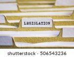 Small photo of Legislation word on card index