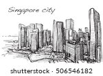 sketch cityscape of singapore... | Shutterstock .eps vector #506546182