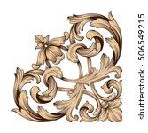 vintage baroque corner scroll... | Shutterstock .eps vector #506549215
