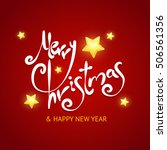 christmas card background.... | Shutterstock . vector #506561356