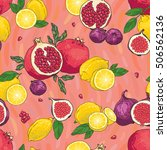 seamless vector hand drawn... | Shutterstock .eps vector #506562136