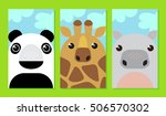 vector set of cute cartoon... | Shutterstock .eps vector #506570302