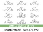 set of elegant vector swirls.... | Shutterstock .eps vector #506571592
