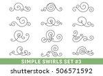 set of elegant vector swirls.... | Shutterstock .eps vector #506571592
