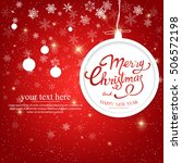 vintage merry christmas and... | Shutterstock .eps vector #506572198