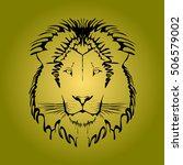 vector black tattoo king lion... | Shutterstock .eps vector #506579002