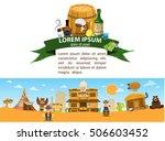 saloon. wild west game... | Shutterstock .eps vector #506603452