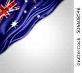 australia flag of silk with... | Shutterstock . vector #506608546
