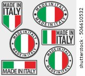 made in italy label set with... | Shutterstock .eps vector #506610532