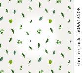 green pattern made of greenery  ... | Shutterstock . vector #506616508