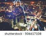 data analyzing in forex market... | Shutterstock . vector #506617108