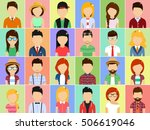 set of icons in a flat style.... | Shutterstock .eps vector #506619046