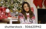 gorgeous young woman enjoying... | Shutterstock . vector #506620942