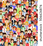 set of people standing together.... | Shutterstock .eps vector #506626876