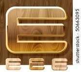 wooden characters set with gold ... | Shutterstock .eps vector #50663095
