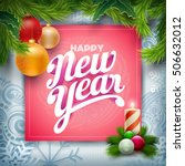 vector christmas and new year... | Shutterstock .eps vector #506632012
