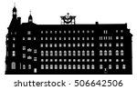 vector silhouette of haydarpasa ... | Shutterstock .eps vector #506642506