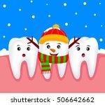 christmas teeth character... | Shutterstock .eps vector #506642662