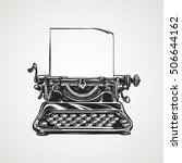 vintage mechanical typewriter.... | Shutterstock .eps vector #506644162