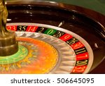 closeup of a roulette wheel in... | Shutterstock . vector #506645095