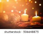 christmas decoration. white... | Shutterstock . vector #506648875